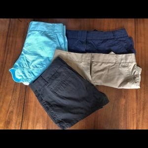 J. Crew lot of 4 shorts size 10